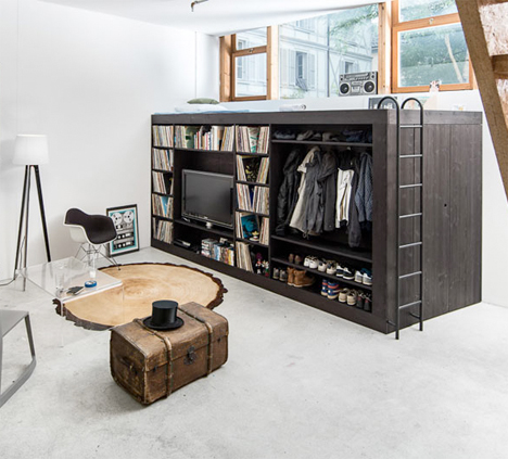 Living Cube Studio Apartment Storage Furniture 1