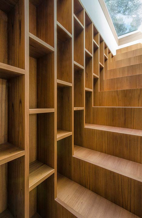 Wall Length Bookcase Stair Combo Designs Amp Ideas On Dornob
