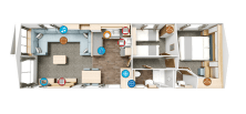 THE FLOOR PLAN LETS YOU SEE ALL THE OPEN - PLAN LIVING SPACE IN THIS MODERN HOME