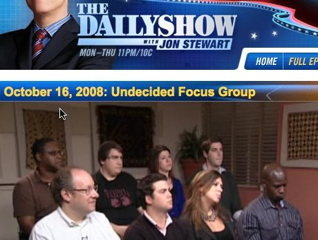 Mintz's daughter on the Daily show -- in the back row