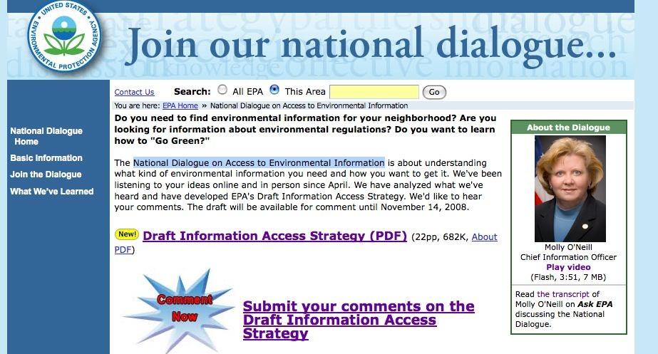EPA's National Dialogue