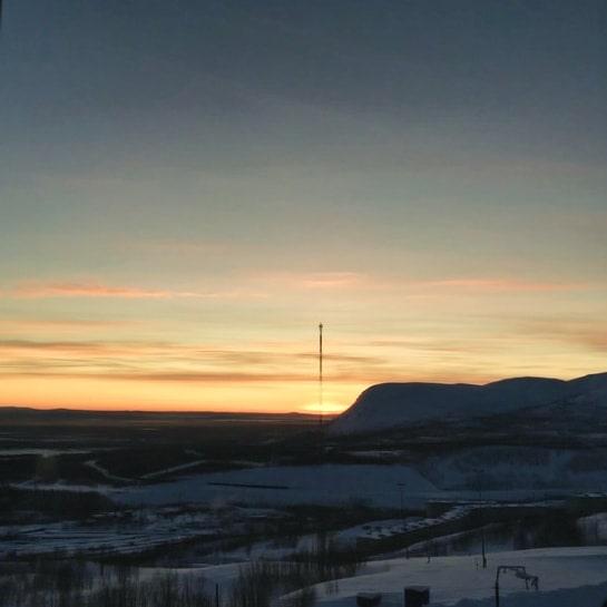Вид на Кировск и горнолыжный курорт