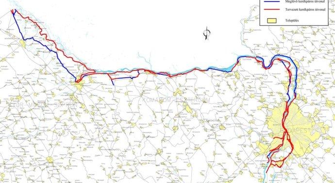 A duna-menti kerékpárút kiépítését szorgalmazzák