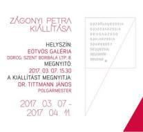 Zágonyi Petra kiállítása