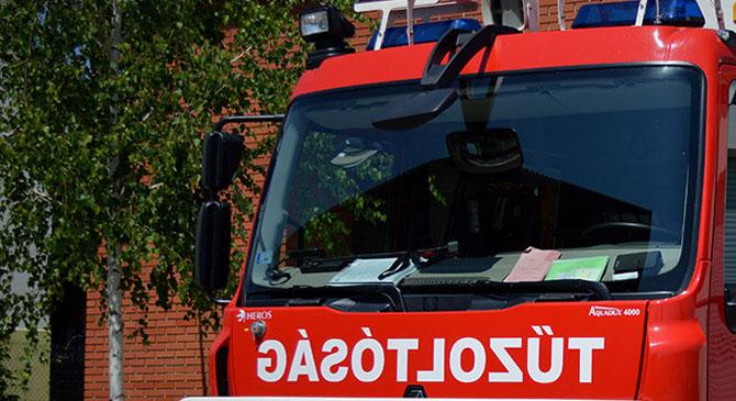 Egy szálloda elosztószekrénye gyulladt ki Esztergomban