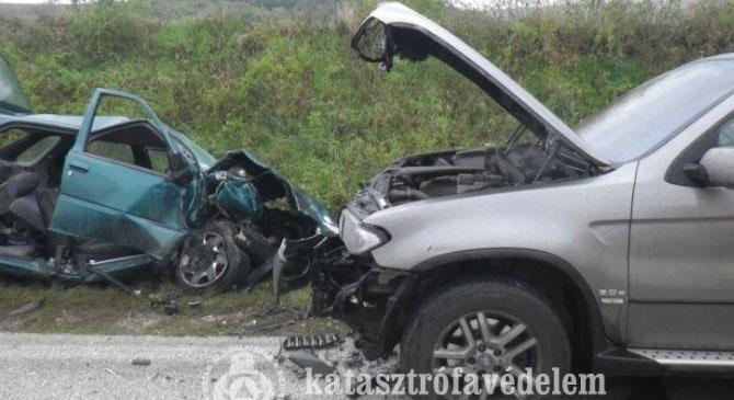 Súlyos baleset Bajna közelében
