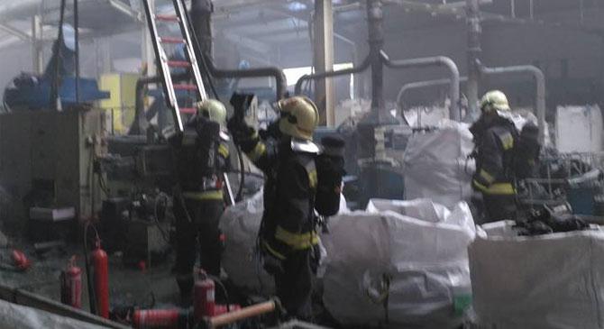 Tűz egy annavölgyi gyárban