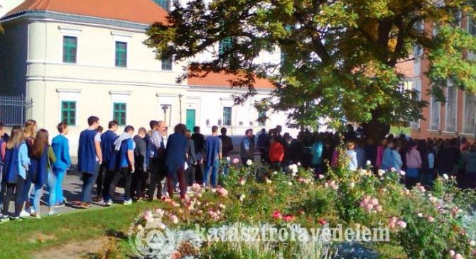 Kiürítési gyakorlat Esztergomban