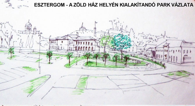 Park lesz az esztergomi Zöld Ház helyén