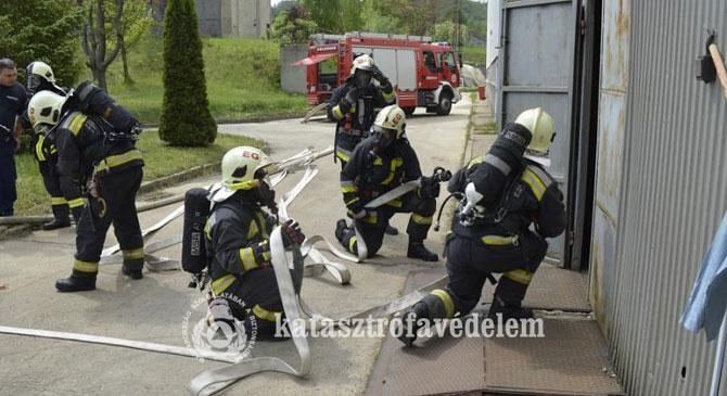 Katasztrófa-felszámolási együttműködési gyakorlat Dorogon