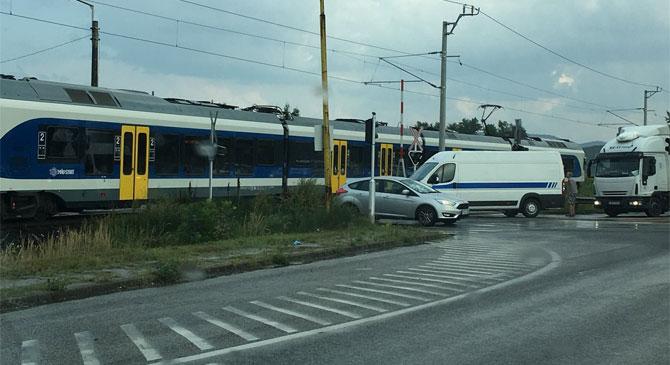 Nem működött a vasúti fénysorompó Dorogon