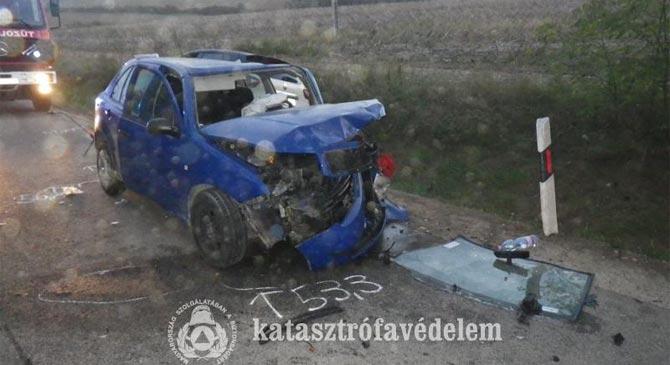Súlyos közúti baleset történt Nagysápnál