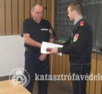 Elismerték egy esztergomi tűzoltó munkáját