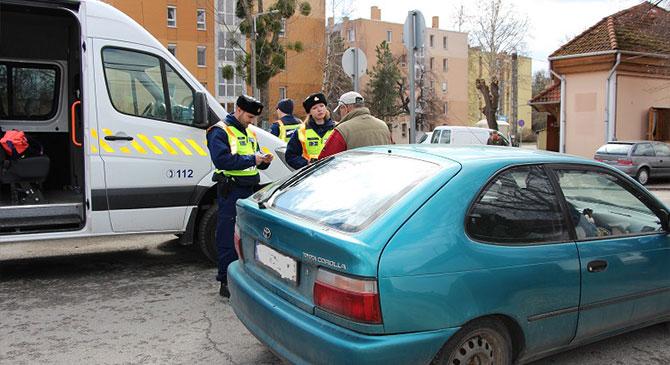 Fokozott ellenőrzést tartottak Esztergomban