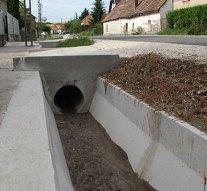 Befejeződött a csapadékvíz elvezetésének fejlesztése Únyon