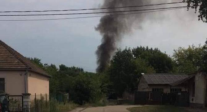 Szemétkupac égett Esztergom-Kertvárosban