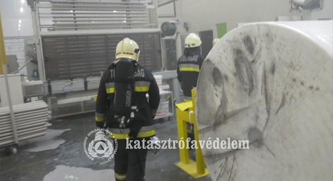 Tűz ütött ki a nyergesújfalui papírgyárban
