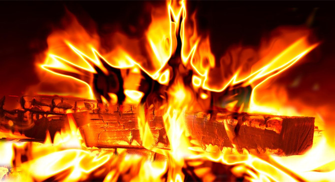 Szekrény égett egy esztergom-kertvárosi ingatlanban