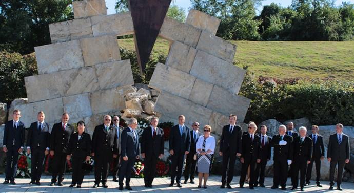 Megemlékezést tartottak a Nemzeti Kőbányászati Emlékhelynél