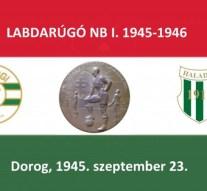 Háromnegyed évszázada történt: A Dorog legelső NB I-es mérkőzése