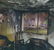 Fotók a kiégett dorogi lakásról
