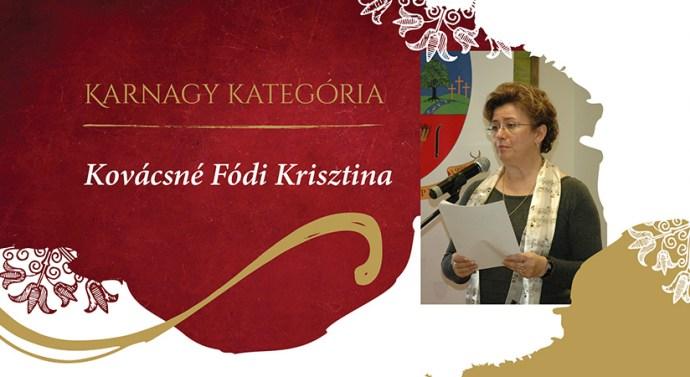 KÓTA-díjjal ismerték el Kovácsné Fódi Krisztina munkásságát
