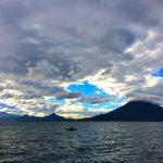 Locals fishing at Lake Atitlan near Doron Yoga & Zen Center yoga retreat in Guatemala