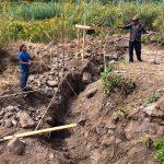 Local mayan workers begin to work at zendo yoga shala