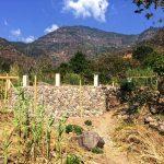 Sunny day at the construction of yoga retreat space at Lake Atitlan in Guatemala