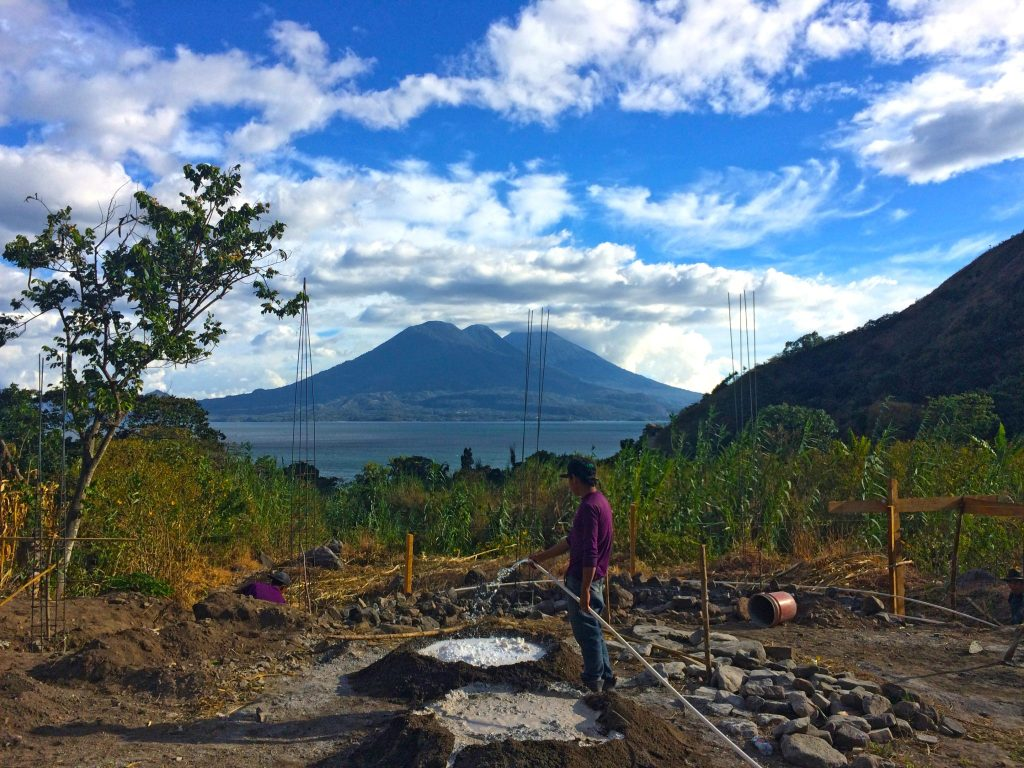 Construction of yoga retreat space at lake Atitlan Guatemala