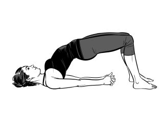 Bridge Pose to combat Insomnia