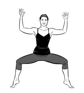 Goddess Yoga Pose
