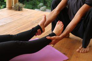 Savasana adjustments - ankles