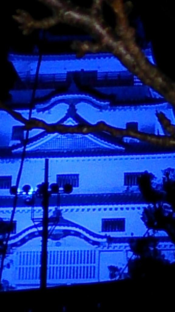 唐津城ブルーライトアップ