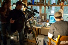 K&T shooting Tony sketching-Klint Burton