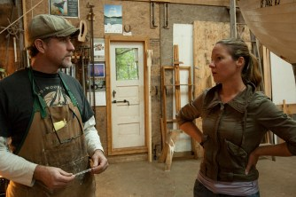 Tony and Tobi in shop Day 1 Demo shoot-Klint Burton