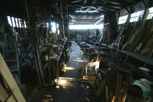 Ted Knowles' 80 year old boatshop. Photo by Tony Grove.