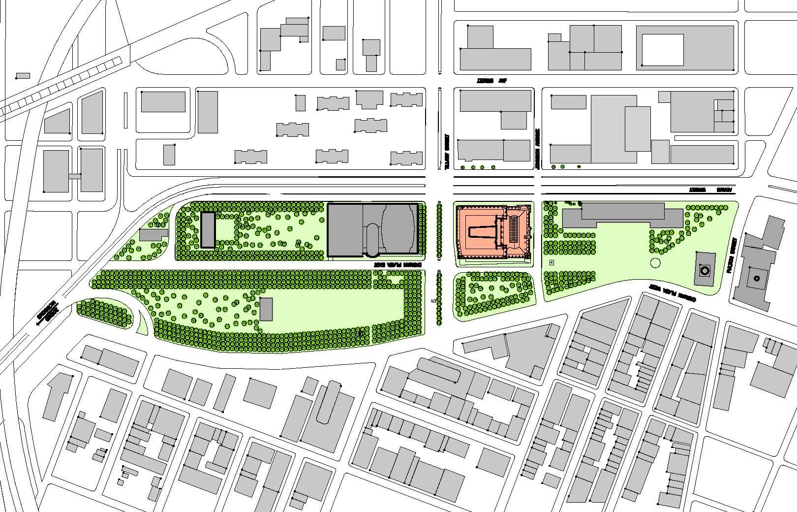 GSA Courthouse – Site Plan & Main Floor Plan