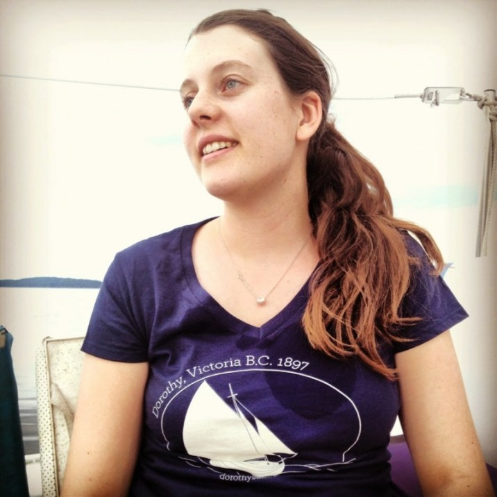Tony Grove's daughter Emily sports the Dorothysails.com tee-July 2013