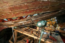 The comealong pulling keel&stem together-TG