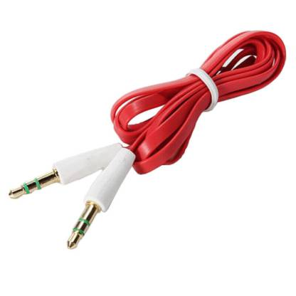 3.5mm (male) to 3.5mm (male) Audio Jack Plug Stereo Aux Lead Wire Cable Red