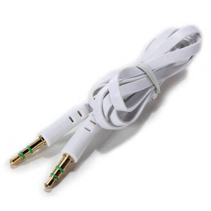 3.5mm (male) to 3.5mm (male) Audio Jack Plug Stereo Aux Lead Wire Cable White