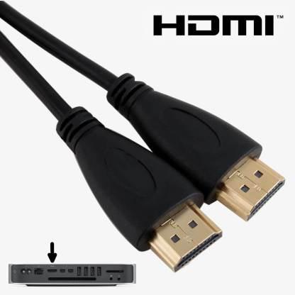 Apple Mac Mini PC HDMI to HDMI TV Monitor 3m Gold Cord Wire Lead Cable