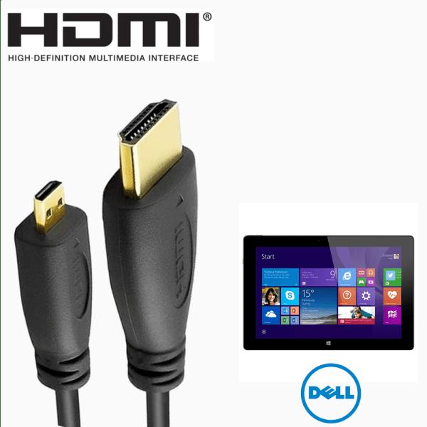 Dell Venue 11 Pro 7000 series HDMI Micro to HDMI TV Monitor 2m Gold Cord Wire Lead Cable