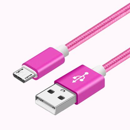 Hipstreet Electron Tablet braided micro USB Fast Charger & Data 1.5m Lead Wire Cable