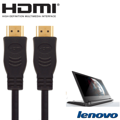 Lenovo Yoga 500 Laptop HDMI to HDMI TV 5m Long with Fuse Gold Cord Wire Lead Cable