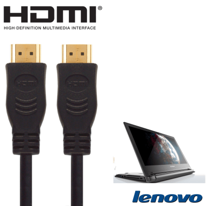 Lenovo Flex 2, 2D, U330, Y50 Laptop PC HDMI to HDMI TV 2m Gold Cord Wire Lead Cable