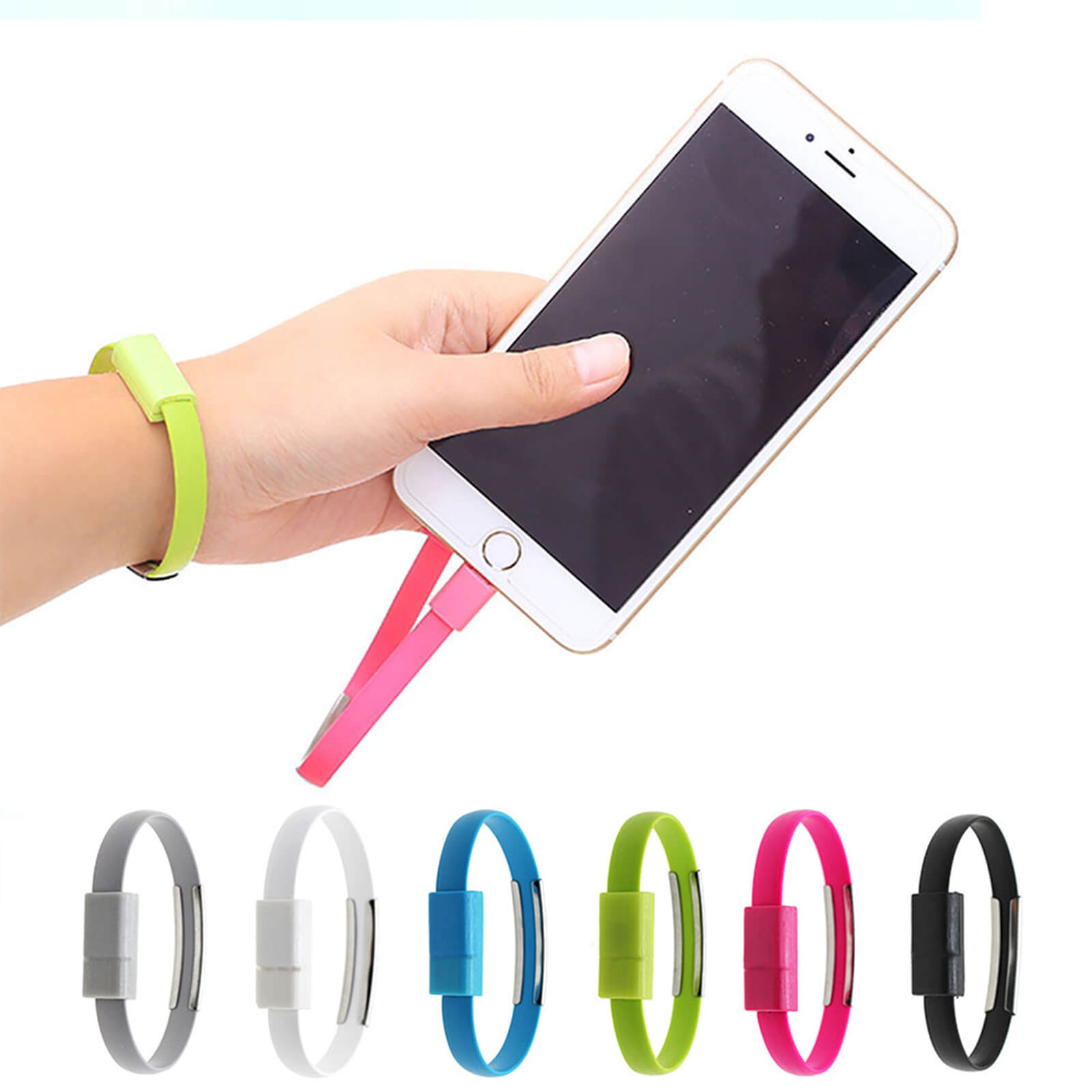 Lightning To Usb Bracelet Charger Data Cord Lead Wire Cable For Kabel Untuk Iphone Ipad Ipod Apple 7