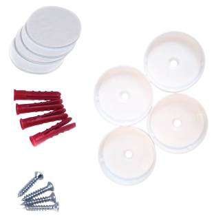 Pressure Fit Baby Safety Stairs Gate Plastic Wall Guards/Cups, Screws & Anchors, and Sticky Pads - Accessory Pack