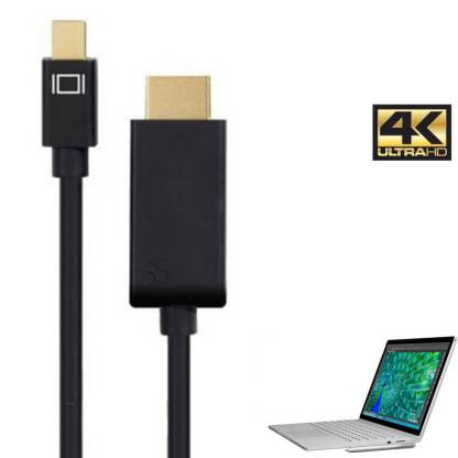 Microsoft Surface Book Mini DisplayPort to HDMI 4K TV Monitor 3m Gold Cord Wire Lead Cable